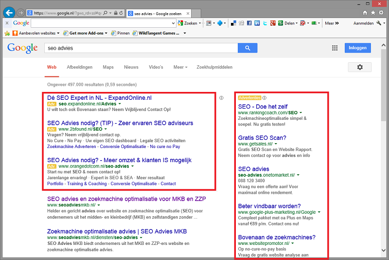 Search Engine Advertising met Google AdWords