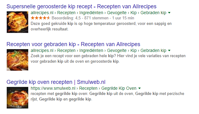 Met structured data markup genereer je rich snippets
